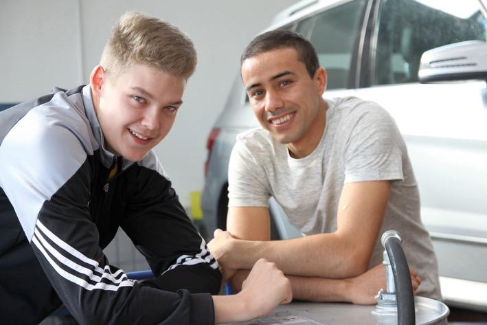 Jawad Mohammadi und Philip Steffens